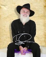 Sir Terry Pratchett Discworld novelist SIGNED AUTOGRAPHED 10X8 REPRO PHOTO PRINT