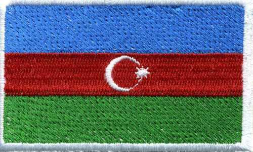 Aplicación Patch aufnähwappen bandera emblema azerbaiyán ☆ 21574 ☆