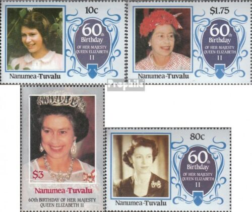tuvaluNanumea 6770 mint never hinged mnh 1986 Birthday Queen Elizabeth II.