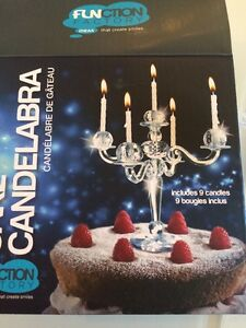 Image Is Loading New Bling Candelabra Cake Decor Topper Candle Holder