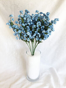 12 Light Blue Baby\'s Breath Stems ~ Gypsophila Silk Wedding ...