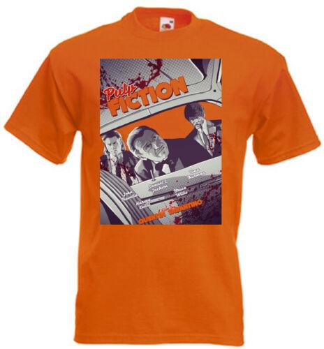 Pulp Fiction v34 T-Shirt Quentin Tarantino Rouge Jaune Orange Toutes Tailles S-5XL