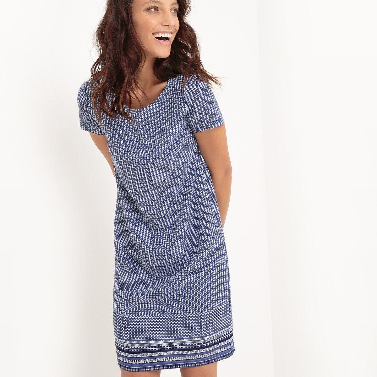 La Redoute Atelier R Mix Print Short Shift Dress Size 22 BNWT RRP .99 bluee