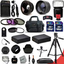 PROFESSIONAL 32 Piece Accessory Kit f/ Canon EOS Rebel SL1 EOS M2 EOS M EOS 100D