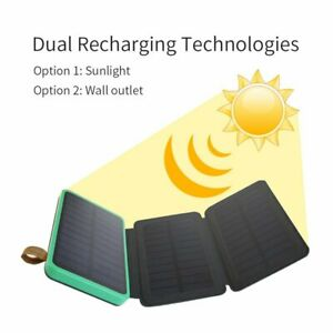 300000mAh 2USB Waterproof Solar Power Bank External Battery Charger For Phone AU