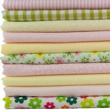 Fat Quarter Bundle x10 - Easter Spring Pastel Pink, Green & Yellow Spots Gingham