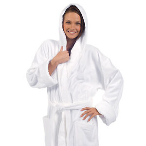 byLora Hooded Mens Robe and Womens Robe, Embroidery available