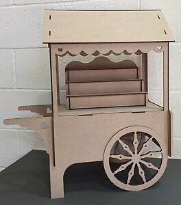 Image Is Loading Y87 L Candy Cart Trolley Flat Pack Large
