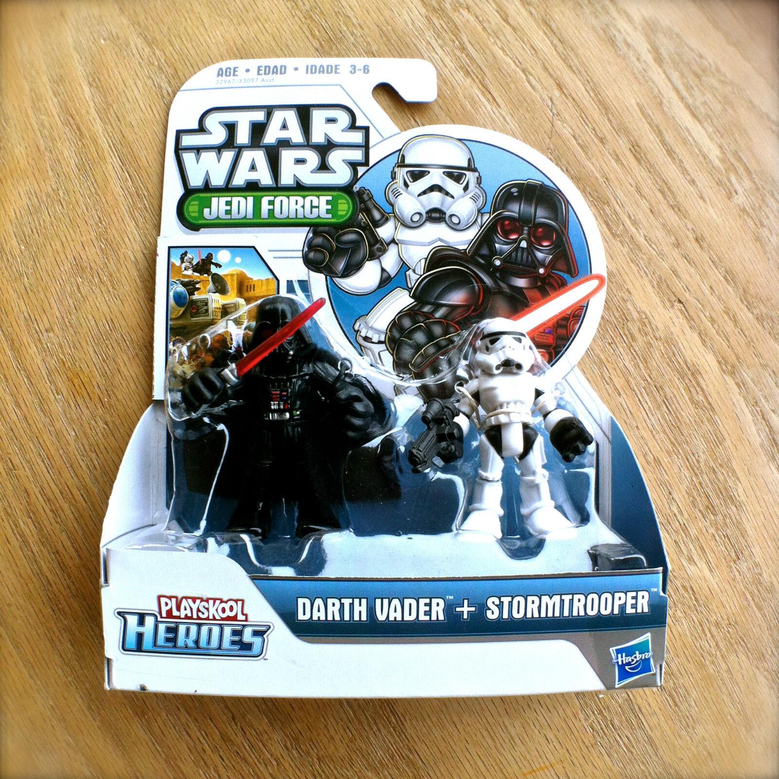 STAR WARS Jedi Force DARTH VADER STORMTROOPER Playskool Heroes HASBRO Droid 2pk