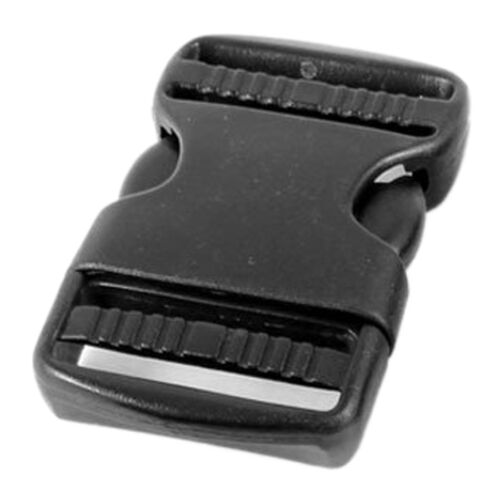 5Pcs Curved Plastic Side Quick Release Buckle for Bag Black 7.2x4.3x1.1cm DT