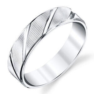 925-Sterling-Silver-Mens-Wedding-Band-Ring-Comfort-Fit-Diagonal-Lines-SEVB021