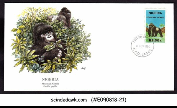 MéThodique Nigeria - 1990 Mountain Gorilla / Animals - Fdc Performance Fiable