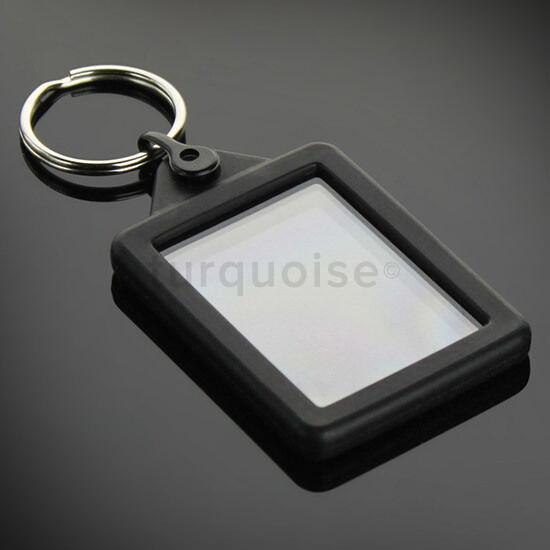 50 x35mm blank clear acrylic photo key ring passport size keyring Key chain key