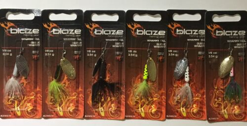 Blaze 1//8 oz Spinner Bait Crappie Bass Spinnerbait Choose Color Matzuo Hook Lot