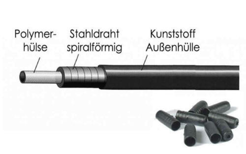 Xlc Boutons-bremsaussenhülle 4-5 mm Noir//Blanc incl extrémités
