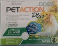 Pet Action Plus Flea & Tick Drops for Meduim Dogs,23-44 lbs 3mo supply free ship