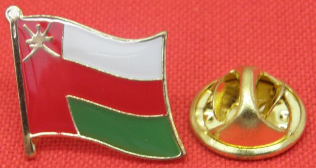 Oman Country Flag Lapel Hat Cap Tie Pin Badge Brooch Sultanate of Oman Omani
