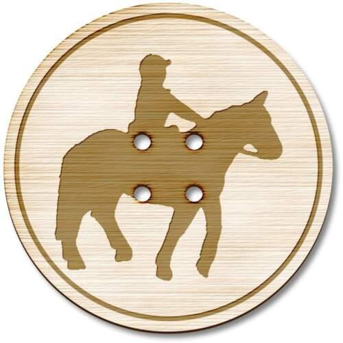 /'caballo/' Botones Madera BT007629
