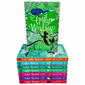 Emily-windsnap-1-and-2-8-Books-Collection-Set-By-Liz-Kessler-Tail-Monster-NEW