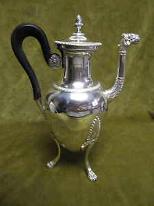 Verseuse argent vieillard (1819-1838) 582gr (french silver coffee pot) st empire - France - Type: Art de la table, Cuisine Matire: Argent massif Origine: France Style: Napoléon, Empire - France