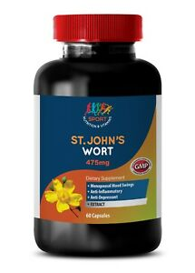 1bot 60ct Herb Stress Relief John's Wort Extract Pure Ingredients St