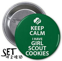 Girl Scout Cookies Keep Calm Set Of Pinback Buttons It's Cookie Time Pins Scouts