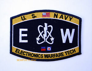 ELECTRONICS-WARFARE-TECH-EW-RATING-HAT-PATCH-US-NAVY-USS-PIN-UP-ENLISTED-CHIEF
