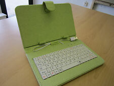 """Light Apple Green USB Keyboard Case/Stand for Tesco Connect 7 7"""" Tablet PC"""