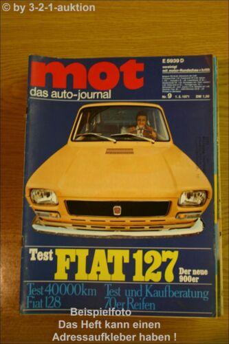 MOT 9//71Fiat 127 128 Ford Escort Turnier BMW DB 350 SL