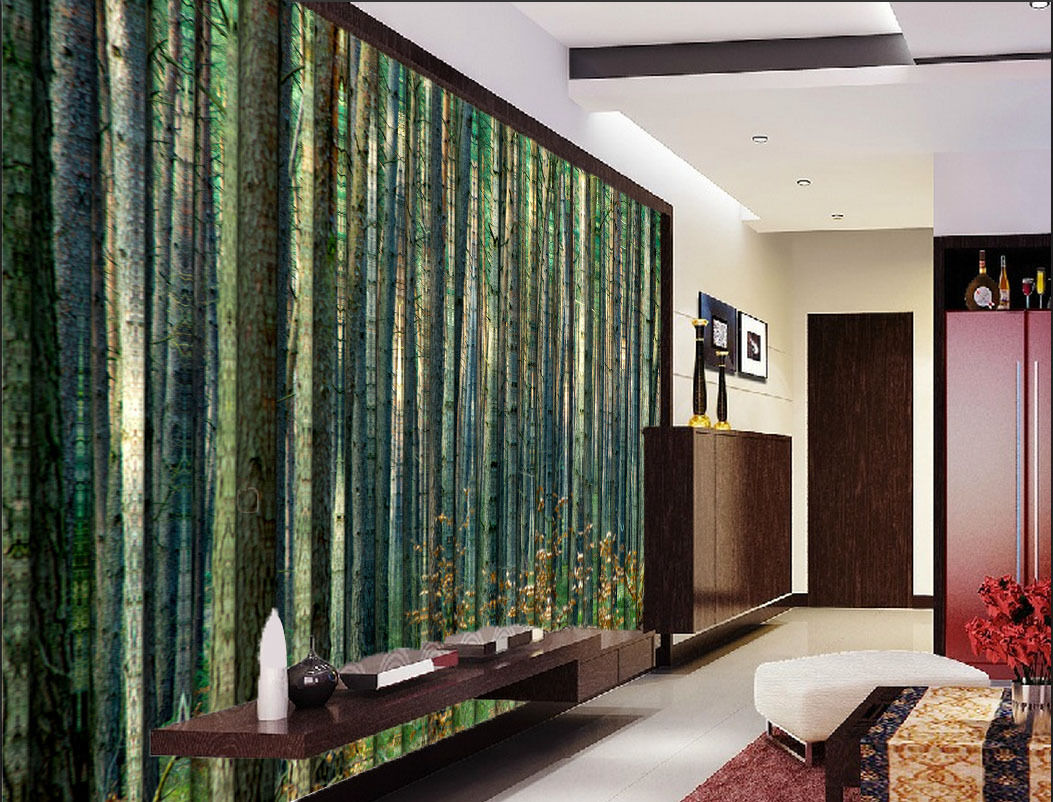 3D Forest Trunk Paper Wall Print Wall Decal Wall Deco Indoor Murals