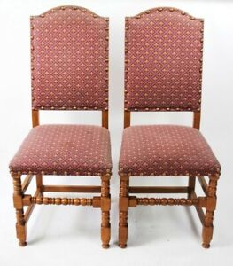 A-pair-of-Quality-Solid-Oak-Upholstered-Dining-Chairs-5150A