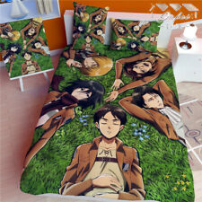 Anime Attack on Titan Cosplay Bed sheet Blanket Bedding Gift 150*200cm 4pcs#19
