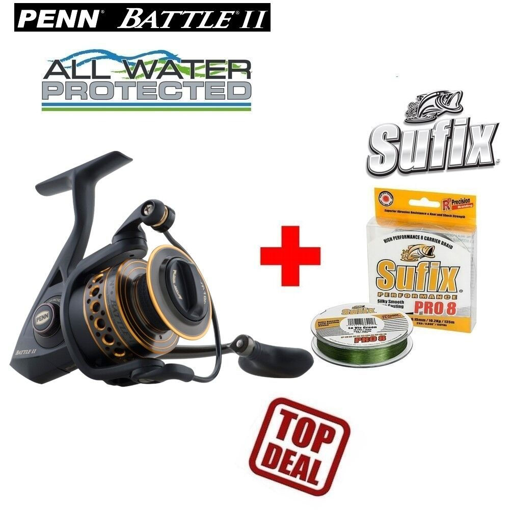 Penn battle 2 5000 300m 0,27 mm Sufix PERFORMANCE PRO 8 22kg