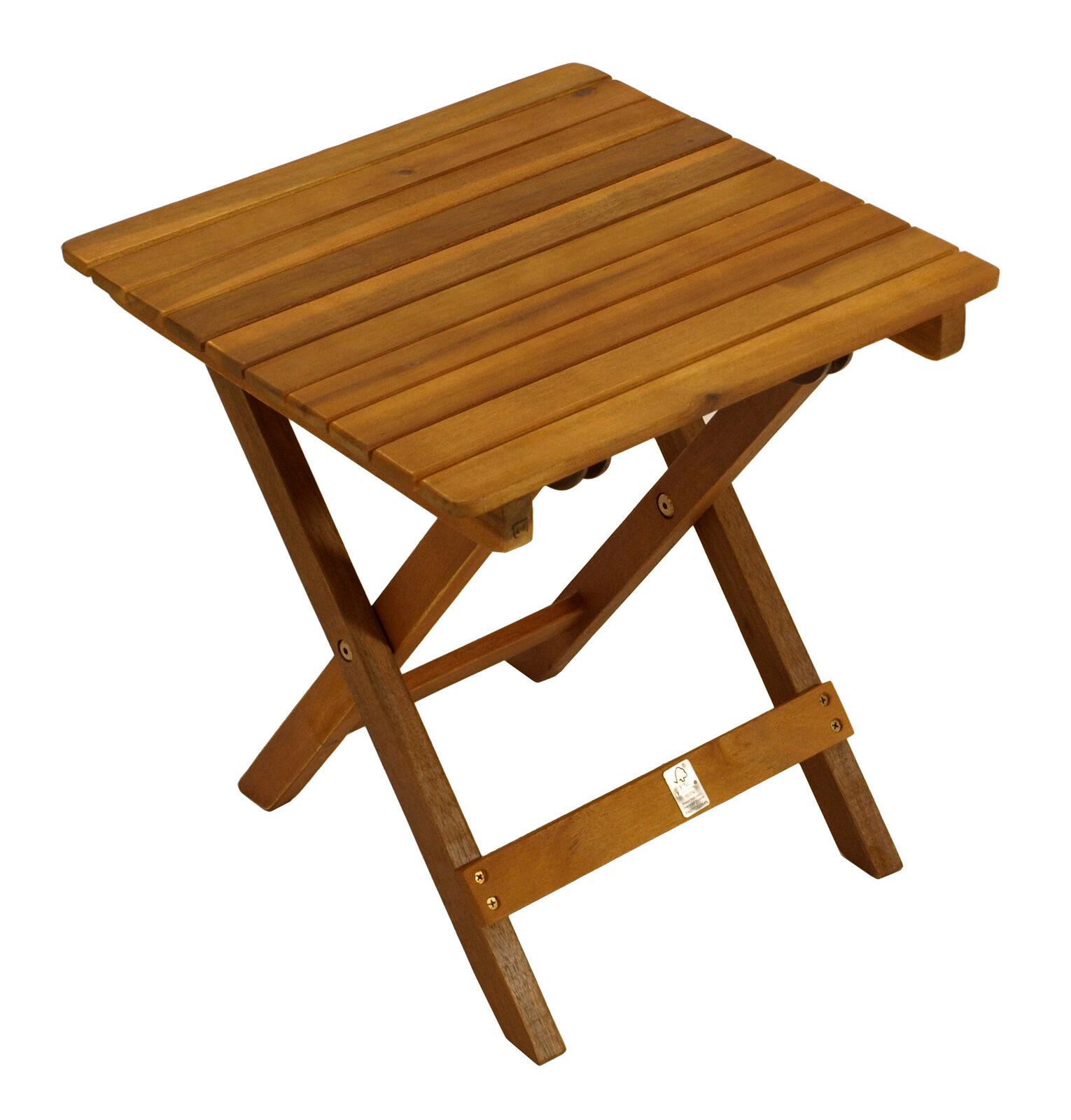 Beistelltisch Klapptisch Holztisch Kaffeetisch Mara 38x38x40cm Holz Akazie
