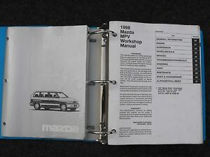 1998 Mazda MPV Factory Workshop Service Shop Repair Manual ...