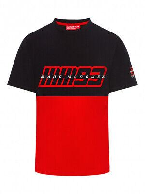 100/% algod/ón dise/ño con el Logotipo de Ant 93 Color Rojo Camiseta para Hombre Marc Marquez 2019 MotoGP 93