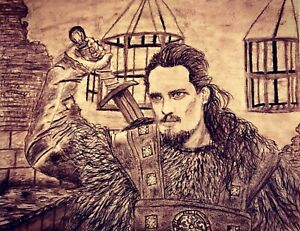 Original-Drawing-Uhtred-Charcoal-Fine-Art-Bernard-Cornwall-The-Last-Kingdom