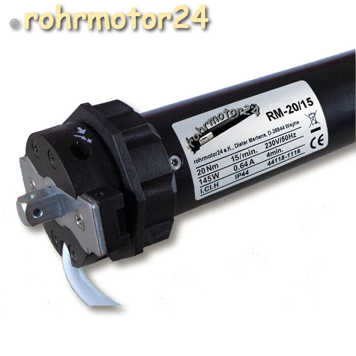 RM-20 15 Rolladen Rohrmotor 20Nm 40kg SW60 Rollomotor Rolloantrieb Jalousiemotor    Qualität zuerst