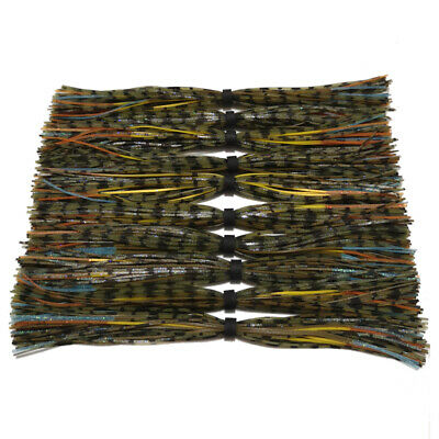 10pc silicone Skirt For SpinnerBait jig Skirt Fishing Skirts with flash skirt058