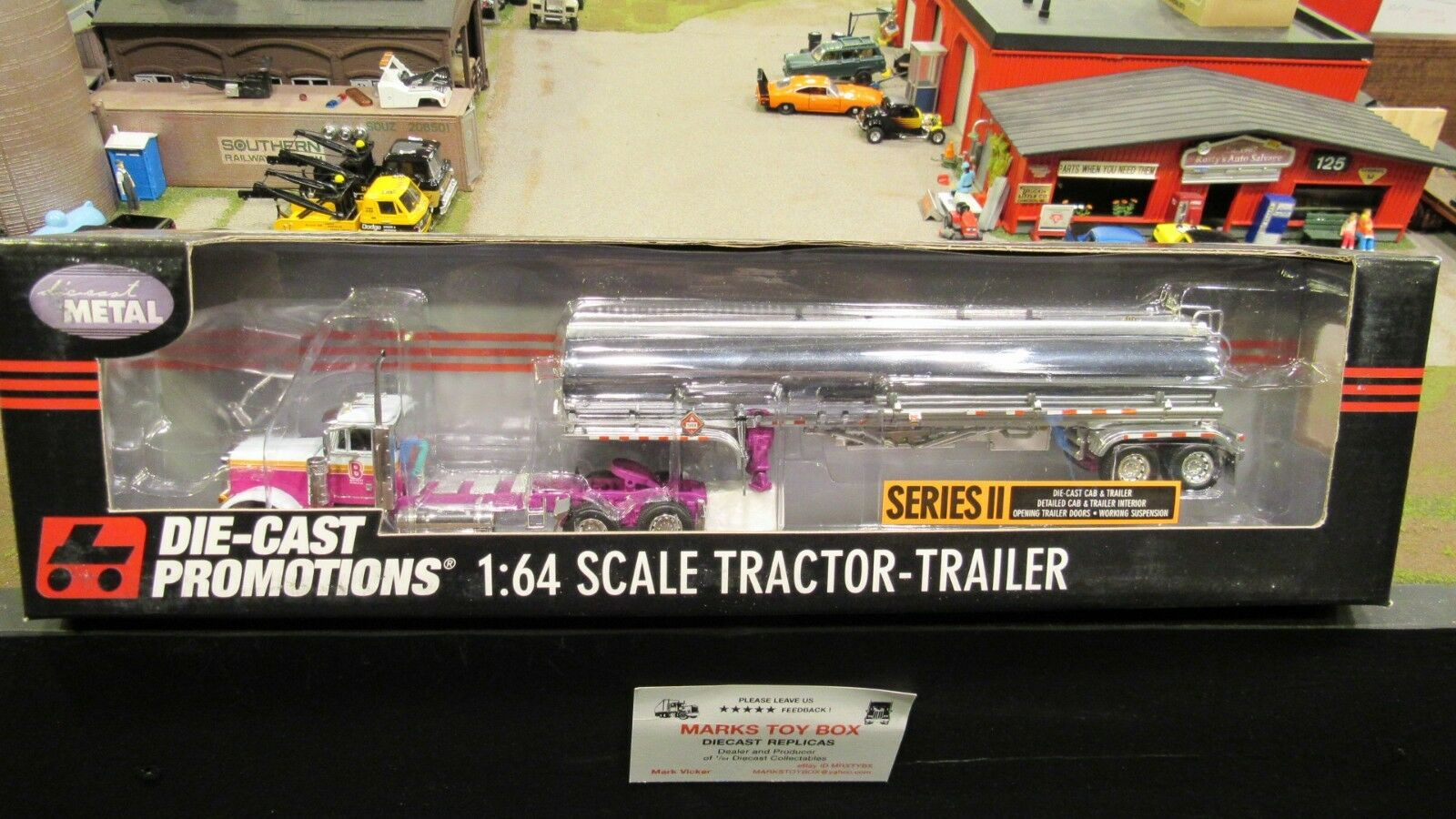 DCP 30744 finance Petroleum 379 semi Day Cab Camion Chemical tanker trailer 1 64