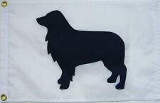 "Brown Dachshund on White 12/""x18/"" Hand Sewn in the USA Doxie Weiner Dog Flag"