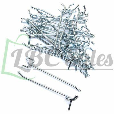 """8/"""" x 1//4/"""" Pegboard Hooks Shelf Hanger Kit Garage Storage Hanging All Metal 50"""