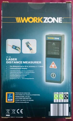 Workzone Laser Distance doseuse 30 m-Coloured écran Tactile