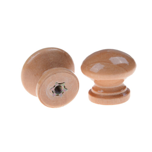 10pcs Natural Wood Wooden Cabinet Knob Drawer Wardrobe Door Pull Handle JB