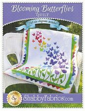 BLOOMING BUTTERFLIES QUILT QUILTING PATTERN, from Shabby Fabrics, *NEW*