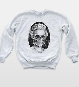 Skull Queen British Sweatshirt Metal Band Indie Religion Jumper