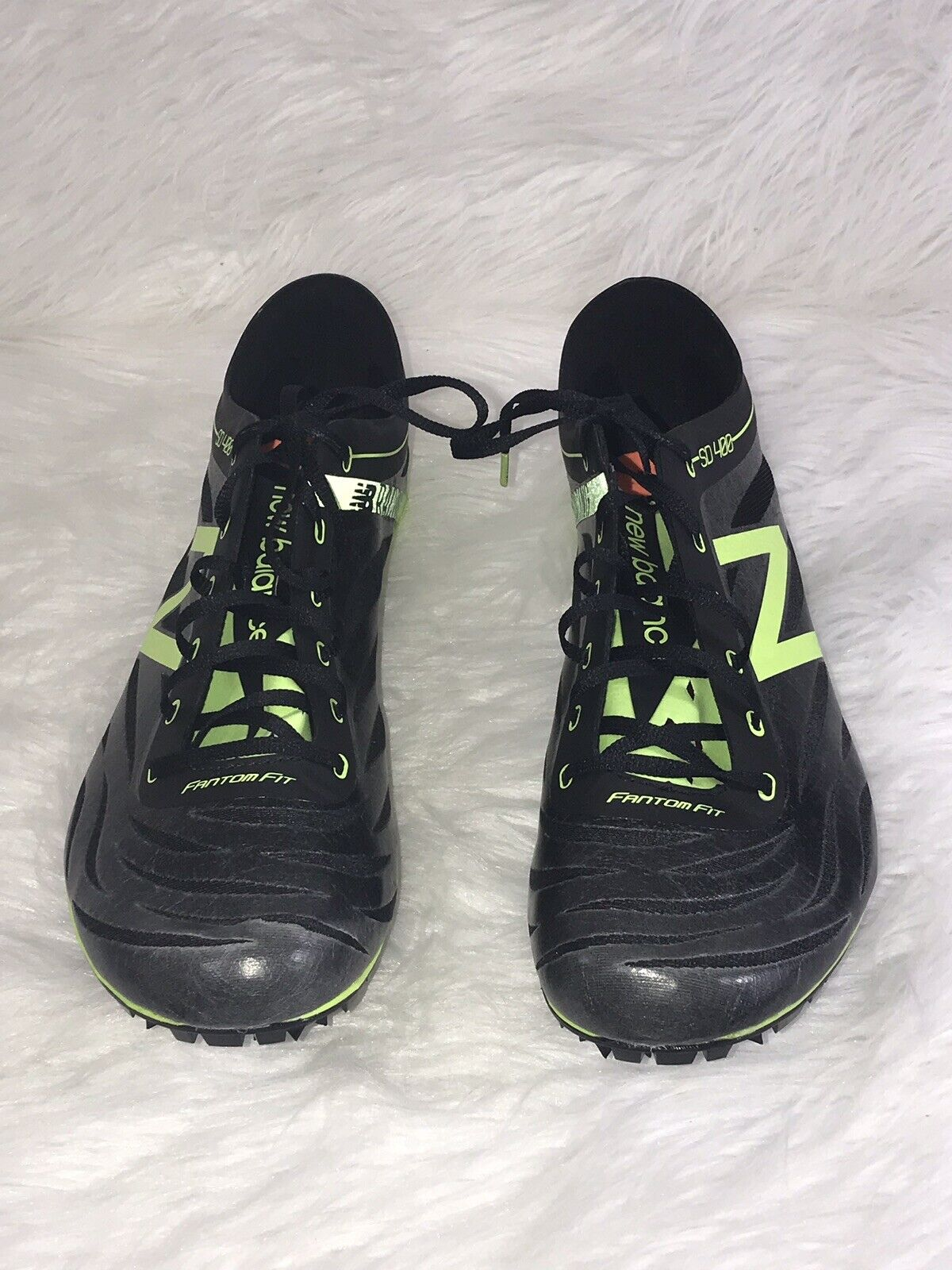 New Balance Mens Size 12 New Track Running shoes Green Black Spike MSD400B3