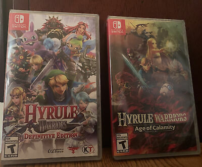 Hyrule Warriors Lot Definitive Edition Age Of Calamity Nintendo Switch New Ebay