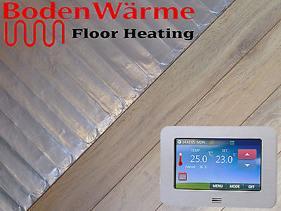 Electric Under Laminate / Wood Foil Underfloor Heating Mat Kit ALL SIZES