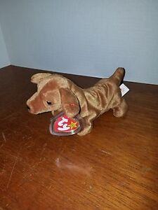 9d147e00f1e Ty Beanie Baby Weenie the Dachshund RARE w FACTORY Errors!! Made in ...